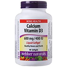 Webber Naturals Calcium with 400 IU Vitamin D3 Liquid Softgel