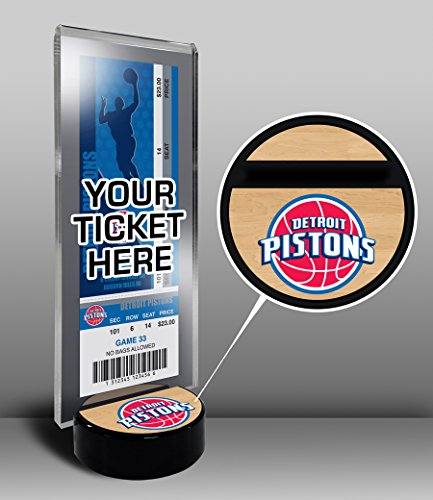 NBA Detroit Pistons Ticket Display Stand, One Size, Multicolored by That's My Ticket