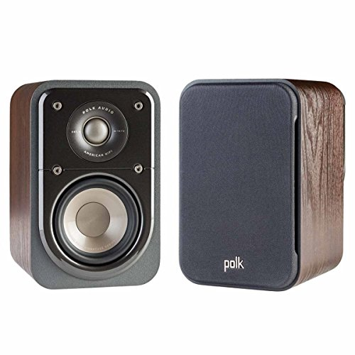 Polk Audio Signature Series S10 American Hi-Fi Home Theater Compact Satellite Surround Speaker – Pair (Classic Brown Walnut)