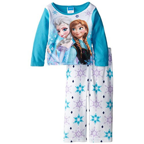 Disney Little Girls' Toddler Frozen Anna and Elsa - Frozen Footed Pajamas 2t