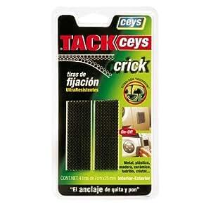 Ceys M102983 - Tackceys crick 4 tiras 5 cm negro