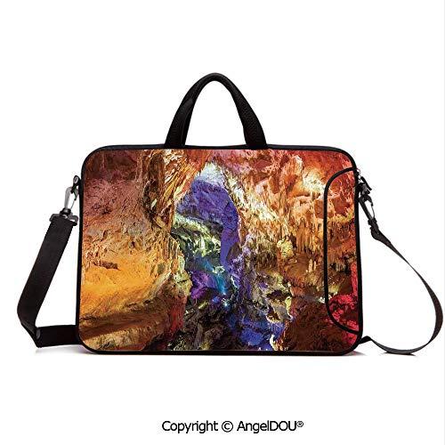AngelDOU Customized Neoprene Printed Laptop Bag Notebook Handbag Inside View of Prometheus Cave in States Dark Karst Underground Myst Artful Natu Compatible with mac air mi pro/Lenovo/asus/acer -