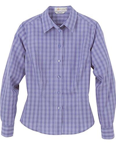 Yarn Shades (Il Migliore 77025 Ladies' Primalux Yarn-Dyed Plaid Shirt - EVNG SHADE 692 - L)