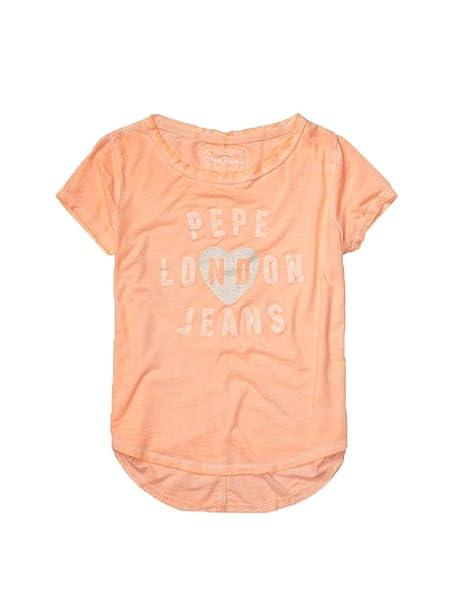 PEPE JEANS - Camiseta, Ariadne Kids, Niña, Color: Naranja, Talla: 4: Amazon.es: Ropa y accesorios