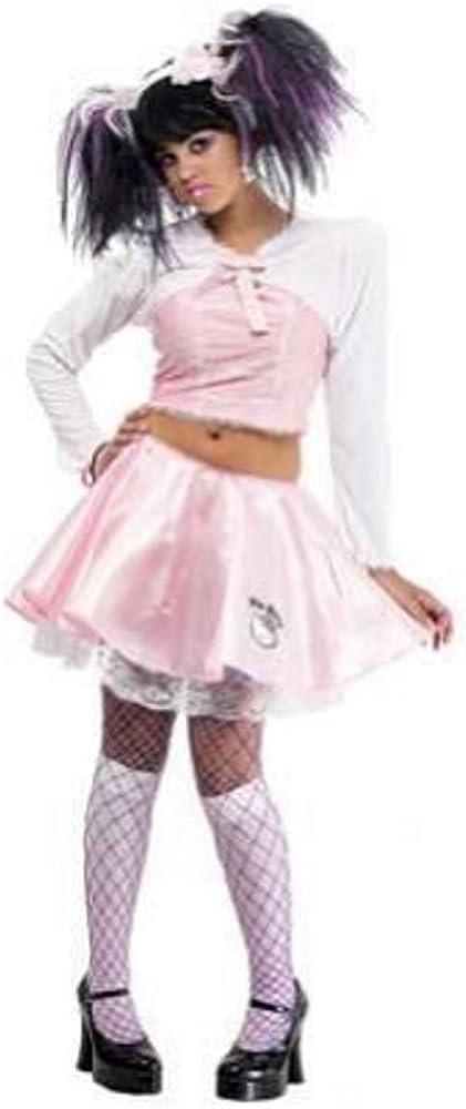 Hello Kitty Costume Wig Kids Teen Girls Cat Ears Halloween Fancy Dress