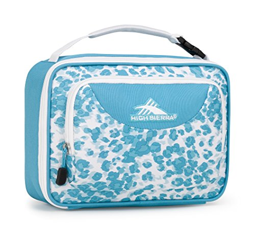(High Sierra Single Compartment Lunch Bag, Tropic Leopard/Tropic Teal/White)
