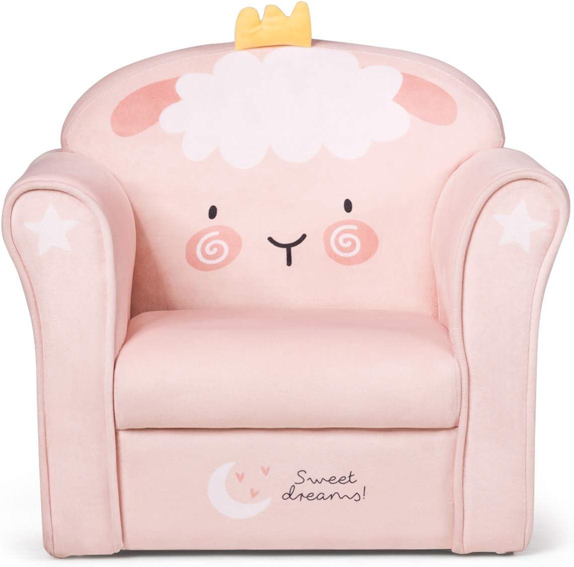 Children Furniture for Baby Boys Girls HONEY JOY Kids Sofa Children Upholstered Armchair w//Sturdy Wooden Construction Colorful Elephant Toddler Armrest Couch for Living Room /& Bedroom