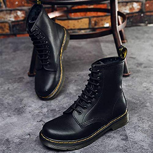Negro Unisex Impermeables Zapatos Con Smiela Bota Mujer Martin wnxBpPZq