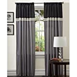 Lush Decor Terra Panels, 95-Inch by 54-Inch, Black/Silver, Set of 2 Review