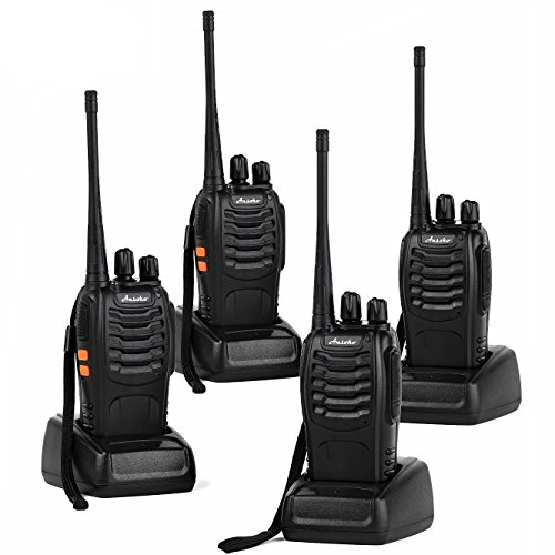 Ansoko Long Range Walkie Talkies Rechargeable Two Way Radios FRS/GMRS 16-Channel UHF 2-Way Radio for Adults (Pack of 4)]()