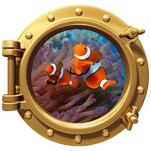 Fish Wall Border - avgrafx Porthole Wall Color Decal Clown Fish 12