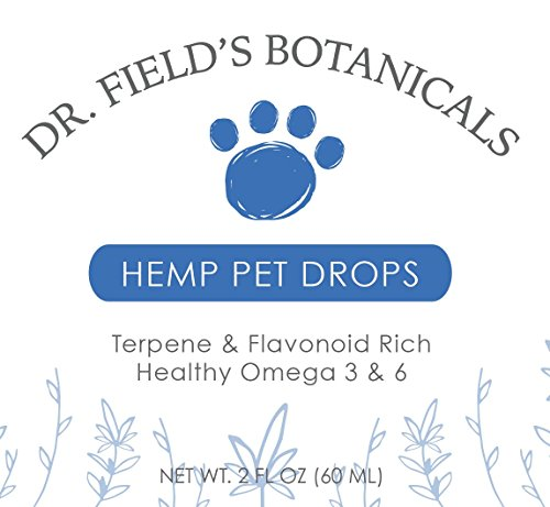 Dr-Fields-Botanicals-Hemp-Pet-Drops-750-mg-Full-Spectrum-Aerial-Hemp-Oils-2-oz-100-Organic-USA-Farmed-Great-for-Old-HipsJoints-Stress-Pain-Anxiety-More