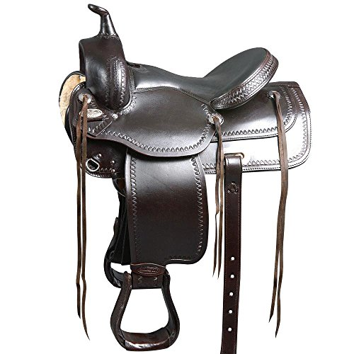 HILASON WIDE GULLET DRAFT HORSE WESTERN TRAIL PLEASURE ENDURANCE SADDLE