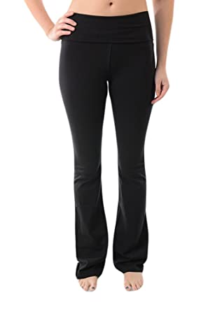 2ba3b22416a139 Amazon.com: T-Party Fold Over Waist Yoga Pants: Clothing