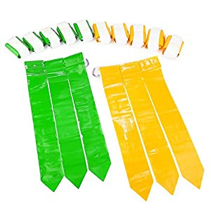 WYZworks Flag Football Set - 12 Belts, 18 Green Flags & 18 Yellow Flags