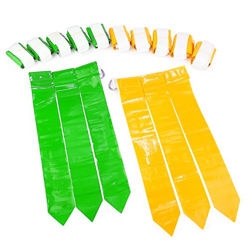 - WYZworks Flag Football Set - 12 Belts, 18 Green Flags & 18 Yellow Flags