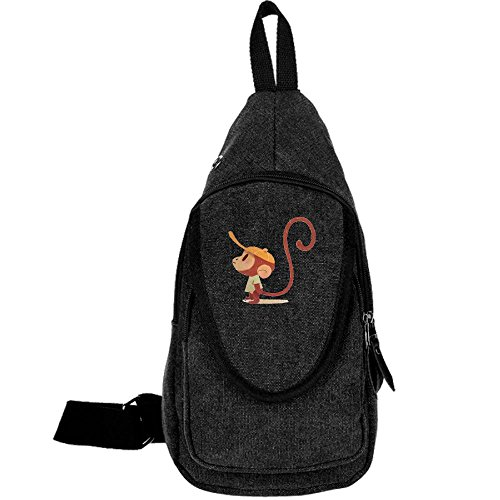 Angry Monkey Classical Chest Pack Sling Hiking Shoulder Crossbody Backpack Rucksack Bag