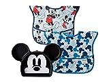 Bumkins Disney Mickey Silicone Grip Dish w/Bib