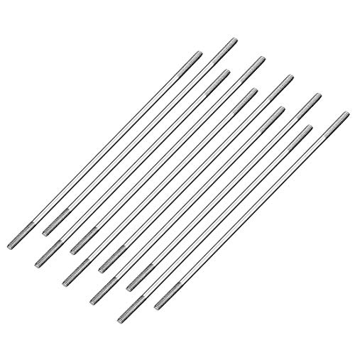 uxcell M2x85mm Pushrod Connector Stainless Steel Rod Linkage,for RC Boat,Car,Airplane,Helicopter,10pcs