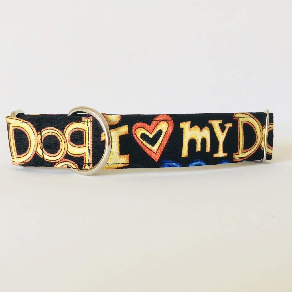 Collar Perro Martingale Modelo I love my dog