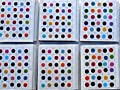720 X Count Assorted Multi Color and Multi Size Indian Daily Use Forehead Bindi Round Dot Tattoo Body Art Sticker