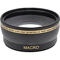 58mm Wide Angle Lens f/ Nikon DF, D90, D3000, D3100, D3200, D3300, D5000, D5100, D5200, D5300, D5500, D7000, D7100, D300, D300s, D600, D610, D700, D750, D800, D810