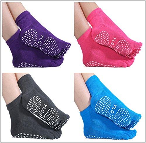 tyzon1-yoga-socks-pack-of-4-non-slip-skid-yoga-pilates-five-toe-socks-with-grips-cotton-for-women