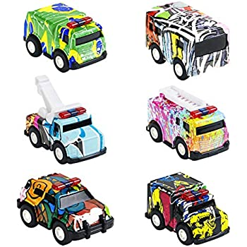 Amazon Com Pull Back Vehicles Metal Toy Cars For Children Toddlers