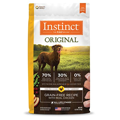 Instinct Original Grain Free Recipe With Real Chicken Natural Dry Dog Food By Nature'S Variety, 4 Lb. ()