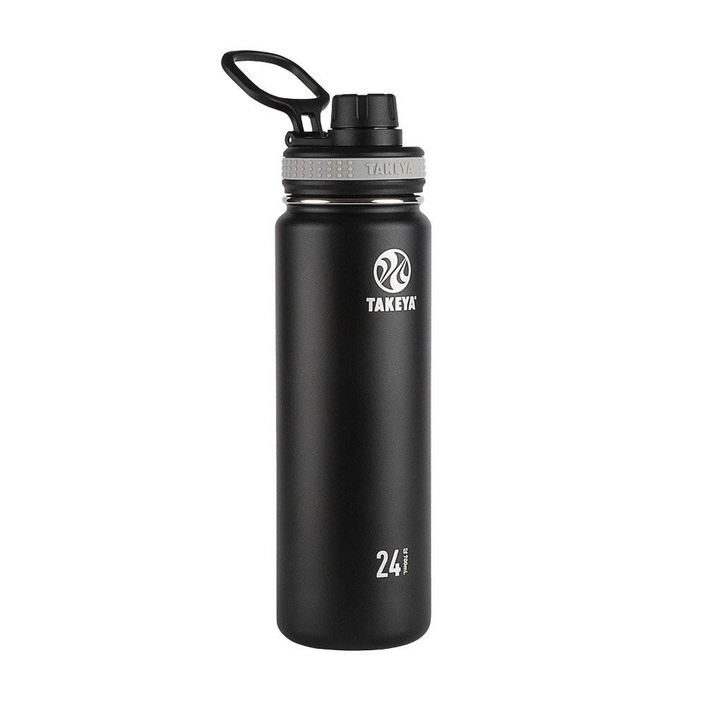 10ffd29c3f5 Takeya 50041 Originals Vacuum-Insulated Stainless-Steel Water Bottle, 24oz,  Black, 24 oz,