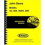New John Deere 44H Plow Operator's Manual