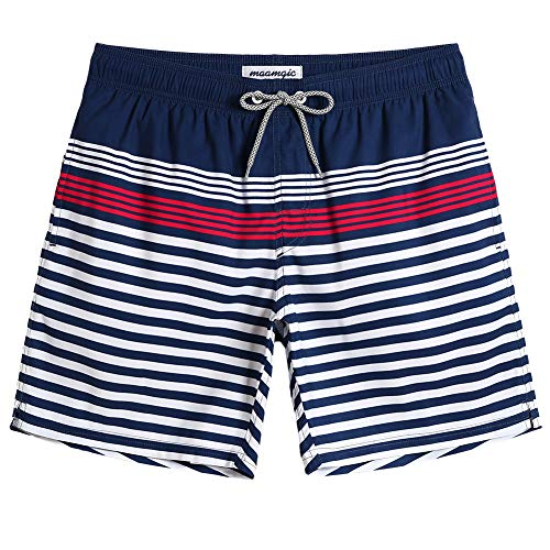 MaaMgic Quick Dry Swim Trunks with Mesh Lining Bathing Suits for Mens Slim Fit Beach Surfing Shorts Swimwear