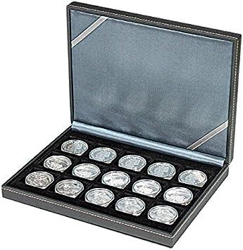 Lindner 2363-15 Estuche monedas NERA XM com 15 compartimentos cuadrados para monedas o cápsulas con un diámetro de hasta 40 mm: Amazon.es: Juguetes y juegos