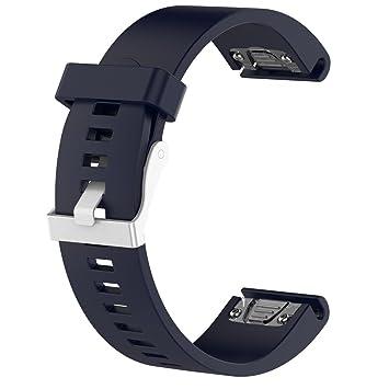 Lisin - Correa de Repuesto para Reloj GPS Garmin Fenix 5S Plus