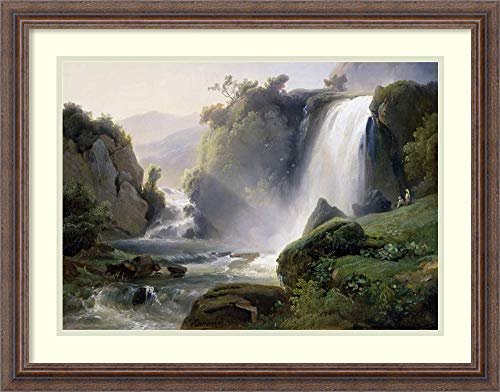 Framed Art Print 'Tivoli Waterfall' by Jean Charles Joseph Redmond