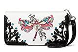 Best Big Dragonfly Messenger Bags - Western Colorful Dragonfly Printed Wristlet Clutch Wallet Pack Review