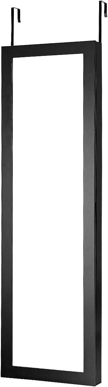 37 X 6.7 X 120CM Marron//Blanche//Noir Noir GOPLUS Armoire /à Bijoux Suspendus Armoire de Rangement Mural avec Miroir de Porte et Grand Rangement Int/érieur