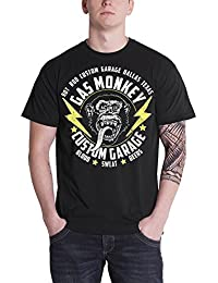 Gas Monkey T Shirt Lightning Bolts GMG Logo Official Mens Black