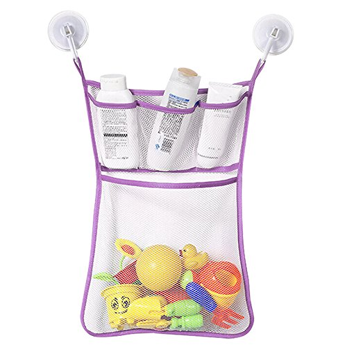 Hot Sale!DEESEE(TM)Fashion New Baby Toy Mesh Storage Bag Bath Bathtub Doll Organize (Purple) (Baby Tub Owl)