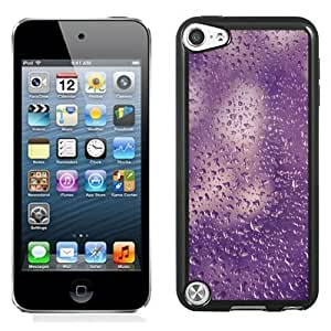 NEW Unique Custom Designed iPod Touch 5 Phone Case With Purple Water Droplets Texture_Black Phone Case
