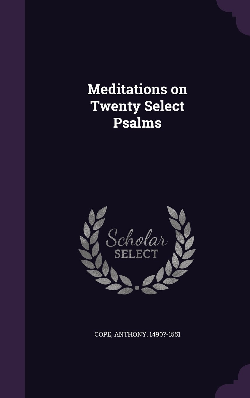 Read Online Meditations on Twenty Select Psalms PDF