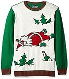 Ugly Christmas Sweater Mens Drunk Santa Sweater