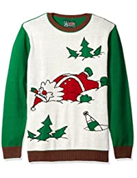 Ugly Christmas Sweater The Men's Drunk Santa Sweater