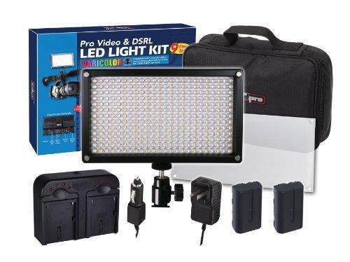 312 LED Light Pro Video and DSRL Varicolor Kit For Panasonic AG-3DA1, AG-AC130A, AG-AC160A, AG-AC8PJ, AG-AC90A, AG-AF100A, AG-AF105, AG-DVX100B, AG-HCK10G, AG-HMC40PJ, AG-HMC80PJ, AG-HMC150PJ, AG-HPX250PJ, AG-HPX255, AG-HPX370, AG-HPX600P, AG-HVX200, AJ-H by Big Mike's