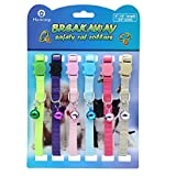 HOMIMP 6PCS Breakaway Cat Collar Safety with Bell