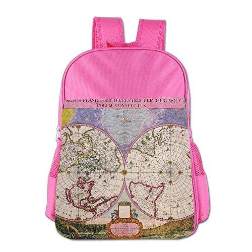 [해외]Sun & Moon World Map School Backpack Children Shoulder Daypack Kid Lunch Tote Bags RoyalBlue / Sun & Moon World Map School Backpack Children Shoulder Daypack Kid Lunch Tote Bags Pink
