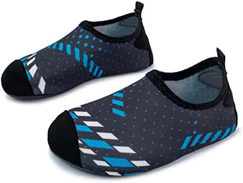 L-RUN Children's Swim Water Shoes Barefoot Aqua Socks for Beach Pool Surfing Yoga
