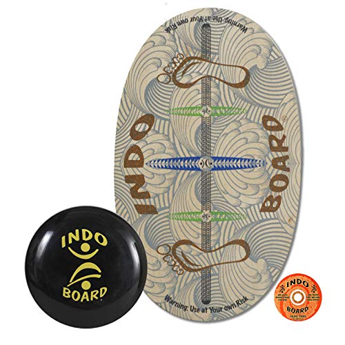 INDO BOARD Original Balance Board for Improving Balance or Use with Standing Desk - Comes with 14