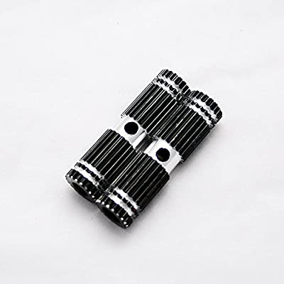 2x Premium Mini Black Metal Alloy Kid-Sized Foot Pegs Fits Most Regular BMX Trick Mountain Bicycles (2.67in Long, 0.35in Diameter Hole, 0.75in Wide)