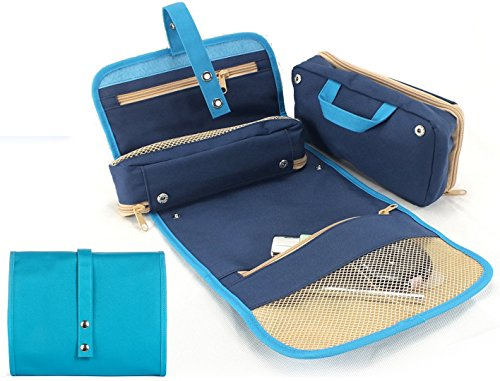 Hanging Toiletry Bag -Two Detachable Pouches